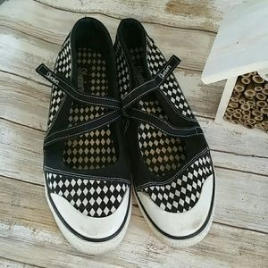 Skechers checkered mary janes 10